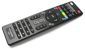 Se trata de un mando a distancia universal de color negro, tanto para TV como para TDT