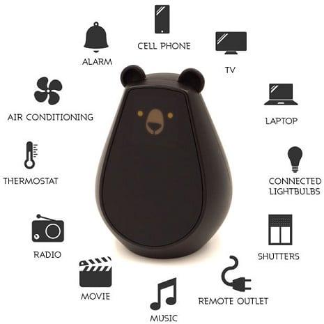caracterisitcas del nuevo mando a distancia universal con forma de oso