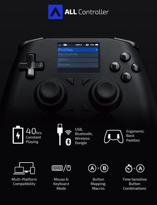 caracteristicas del mando a distancia o Joystick Discover All Controller